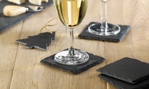 Eco-friendly promotional products made from slate